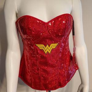 DC Comics Adult Wonder Woman Sequin Corset Costume